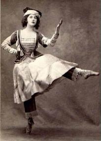 La bailarina Tamara Karsavina en el estreno de Petrouchka en 1911
