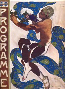 Nijinski en el cartel realizado por Léon Bakst para el ballet L'après-midi d'un faune