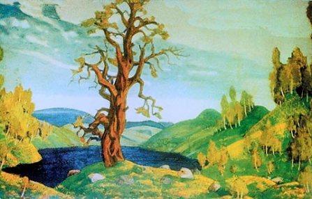 Parte de los diseños realizados por Nicholas Roerich para el ballet Le Sacre du Printemps en 1912